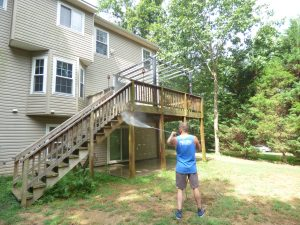 Deck and patio cleaning